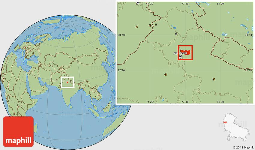Meerut India Map.Savanna Style Location Map Of Meerut