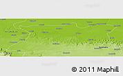 Physical Panoramic Map of Mirzapur