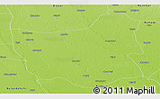 Physical Panoramic Map of Moradabad