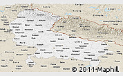 Classic Style Panoramic Map of Uttar Pradesh