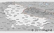 Gray Panoramic Map of Uttar Pradesh