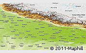 Physical Panoramic Map of Uttar Pradesh
