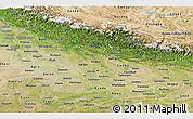 Satellite Panoramic Map of Uttar Pradesh