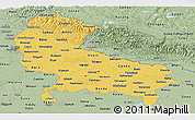 Savanna Style Panoramic Map of Uttar Pradesh