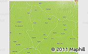 Physical 3D Map of Rampur