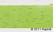 Physical Panoramic Map of Rampur