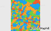 Political Simple Map of Uttar Pradesh