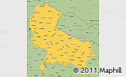 Savanna Style Simple Map of Uttar Pradesh
