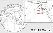 Blank Location Map of Calcutta