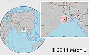 Gray Location Map of Calcutta