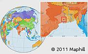 Political Location Map of Calcutta