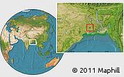 Satellite Location Map of Calcutta