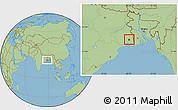 Savanna Style Location Map of Calcutta