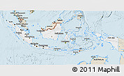 Classic Style 3D Map of Indonesia