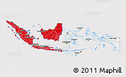 Flag 3D Map of Indonesia, flag rotated