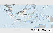 Gray 3D Map of Indonesia