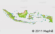 Physical 3D Map of Indonesia, cropped outside