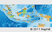 Political 3D Map of Indonesia