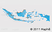 Political Shades 3D Map of Indonesia, cropped outside