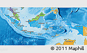 Political Shades 3D Map of Indonesia