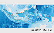 Political Shades 3D Map of Indonesia, single color outside