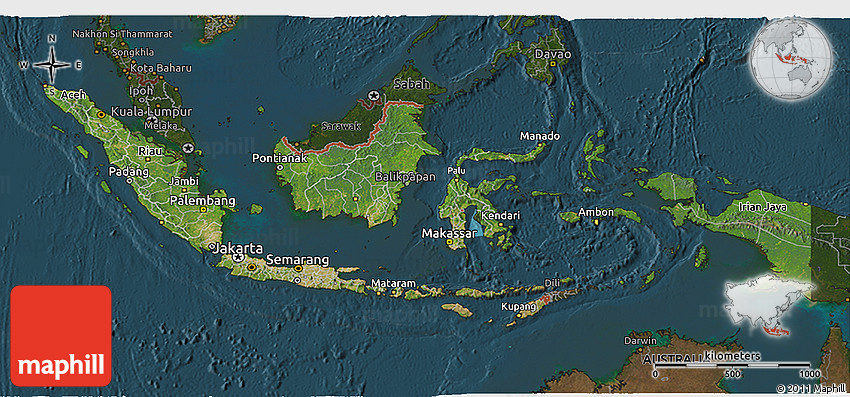 Satellite d Map Large Bali Maps ındonesia And