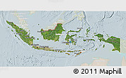 Satellite 3D Map of Indonesia, lighten