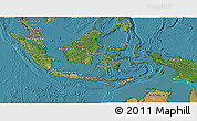 Satellite 3D Map of Indonesia