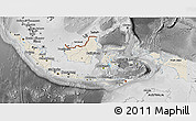 Shaded Relief 3D Map of Indonesia, desaturated