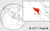 Blank Location Map of Aceh