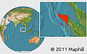 Satellite Location Map of Aceh