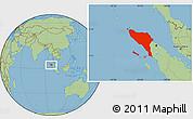 Savanna Style Location Map of Aceh
