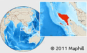 Shaded Relief Location Map of Aceh