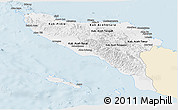 Classic Style Panoramic Map of Aceh, single color outside