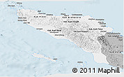 Gray Panoramic Map of Aceh
