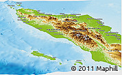 Physical Panoramic Map of Aceh