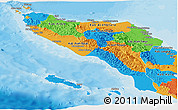 Political Panoramic Map of Aceh