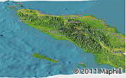 Satellite Panoramic Map of Aceh