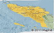 Savanna Style Panoramic Map of Aceh