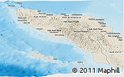 Shaded Relief Panoramic Map of Aceh