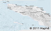 Silver Style Panoramic Map of Aceh