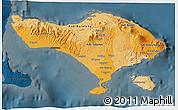 Political Shades 3D Map of Bali, darken