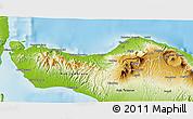 Physical 3D Map of Kab. Buleleng
