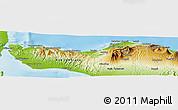 Physical Panoramic Map of Kab. Buleleng