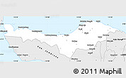 Silver Style Simple Map of Kab. Buleleng