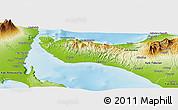 Physical Panoramic Map of Kab. Jembrana