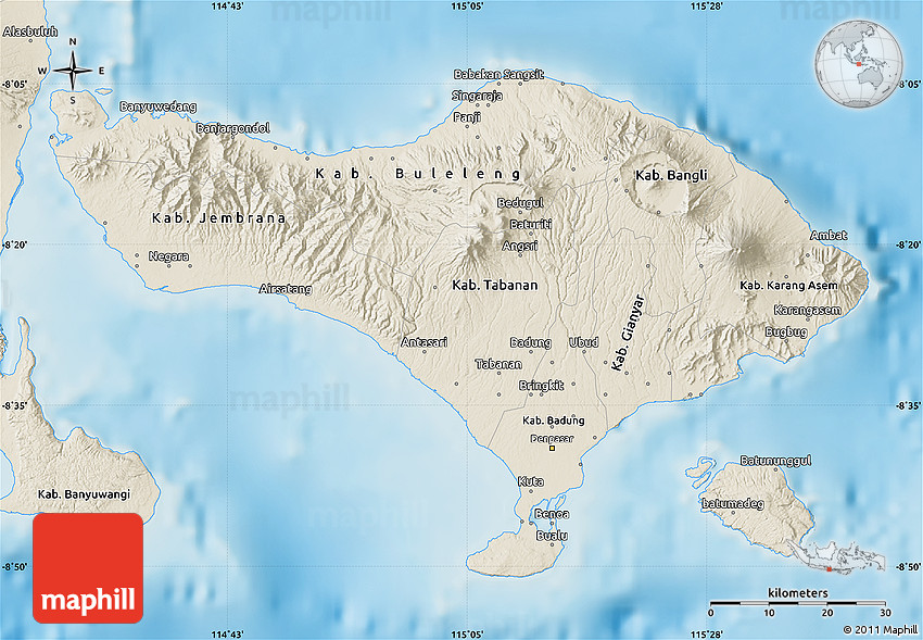Shaded relief map of bali 2d thecheapjerseys Choice Image