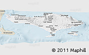 Classic Style Panoramic Map of Bali
