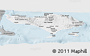 Gray Panoramic Map of Bali