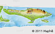 Physical Panoramic Map of Bali